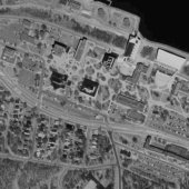 Satelite image of Michigan Tech Campus, 1998