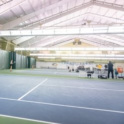 Interior of the Gates Tennis Center.
