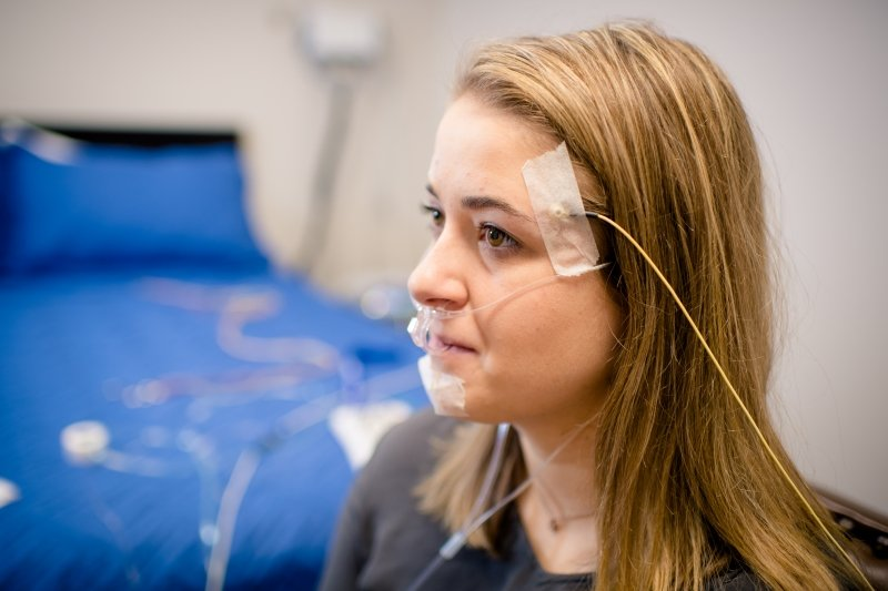 Researcher in a sleep study