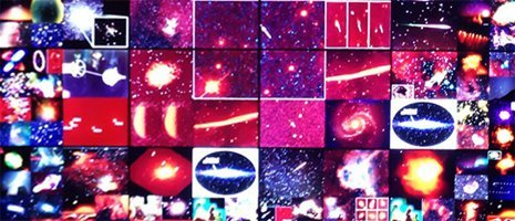 A mosaic of space images.