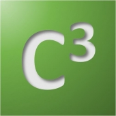 C-Cubed logo: the letter C, raised to the third power.