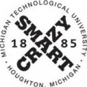 The Michigan Tech crazy smart logo
