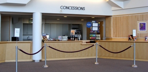Rozsa concessions stand in the lobby