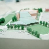 Model of the planning stage of the Rozsa Center