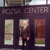 Ted Rozsa standing outside the Rozsa
