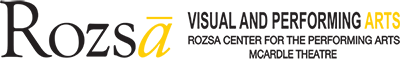 Rozsa Visual and Performing Arts Rozsa Center for the Performing Arts McArdle Theatre Logo