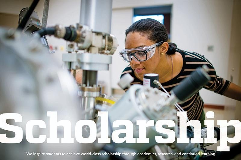We inspire students to acheive world-class scholarship through academics, research, and continued learning.