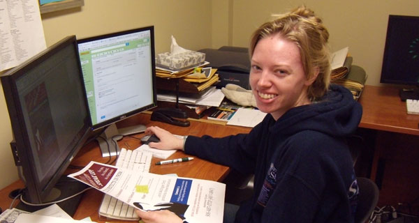 Lilly Manns STC '14, last day at work . . .