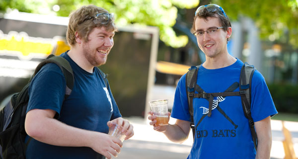 two guys with beer.