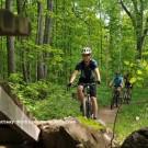 Mountain biking on the Tech Trails