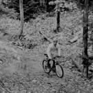 Biker on MTU Ski Trail
