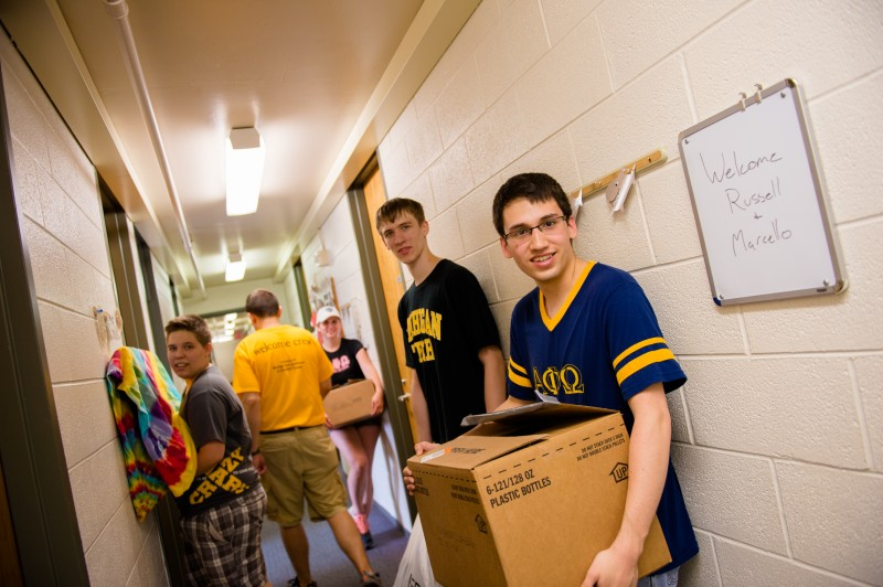 moving in during welcome weekend