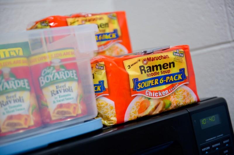 ravioli and ramen noodles