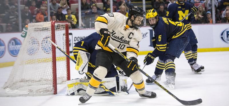 Catch the hockey highlights of Tech vs. Michigan at GLI