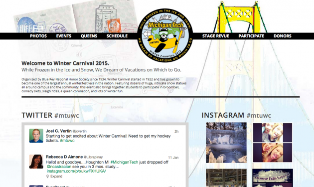 The Winter Carnival website is live... let the countdown begin!