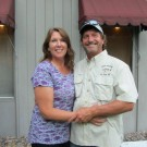 Judy and Ken Glupker '73, operator of Jireh Charters provided the walleye fish, fries and coleslaw for the event