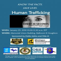 Poster for Human Trafficking event