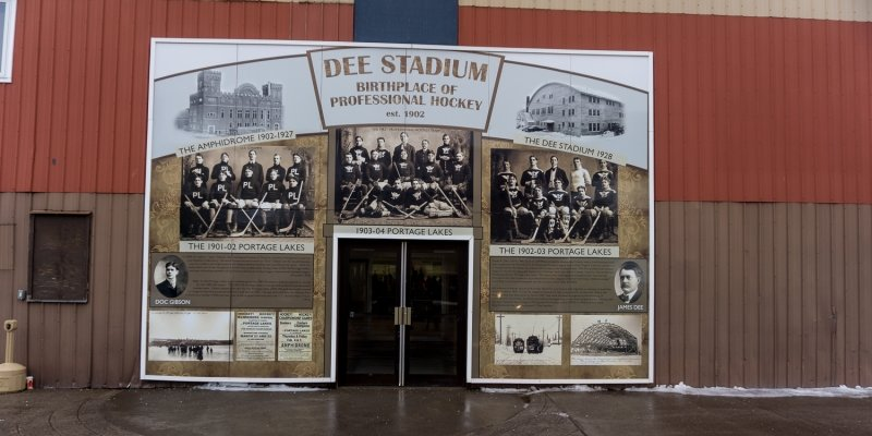 Dee Stadium entrance.