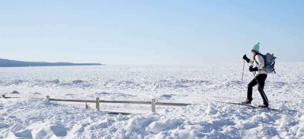 Eagle Harbor in the winter. Image courtesy of Keweenaw.info