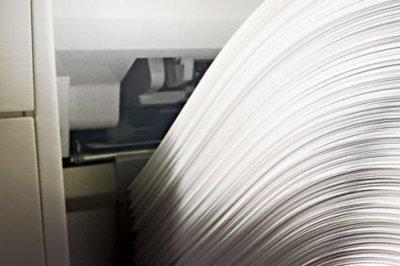 Paper ona printer tray.