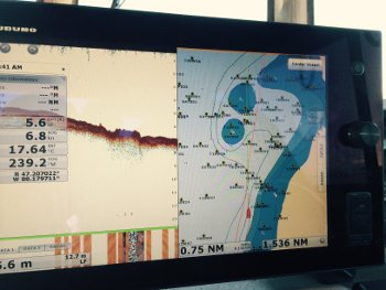 Buffalo Reef Depth reading on the R/V Agassiz