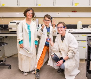 The Vendilinskis and Kuczynski enjoyed their phosphorus-filled lab lesson (especially the lab coats).