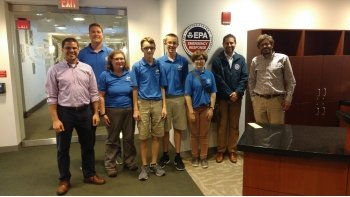 whiz kids team stand with EPA officials