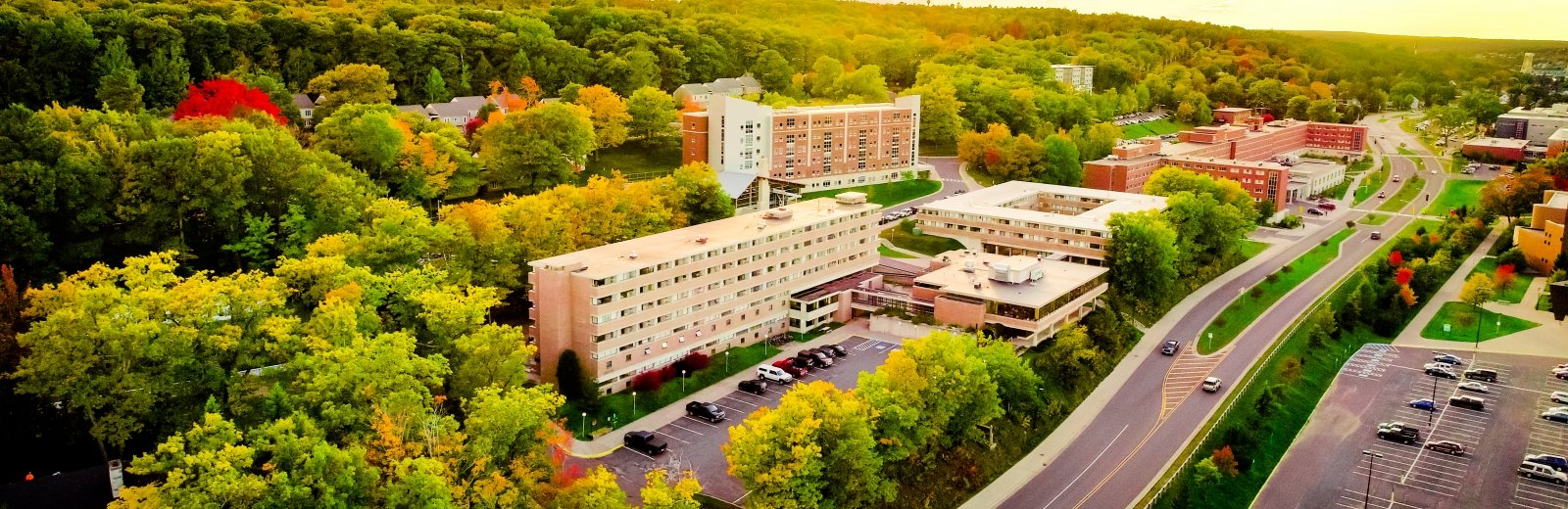 aerial view of Michigan Tech campus