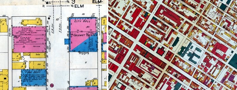 Historic maps of Calumet, MI.