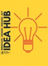 Idea Hub with lightbulb gold color