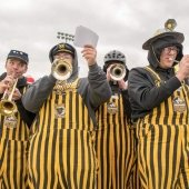 Trumpet players at Sherman Field