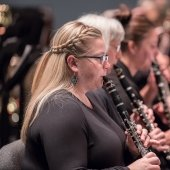 Members of the Keweenaw Symphony Orchestra play the clarinet.