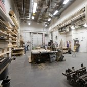 Wide view of the entire Scene Shop.
